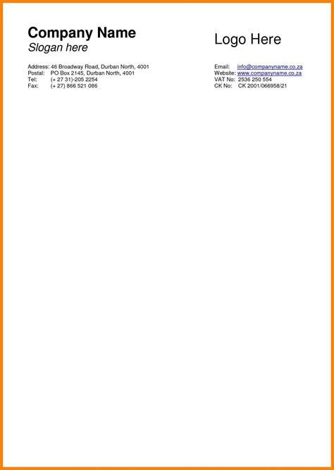 Firm Letterhead Design 9 business letterhead format sales resumed