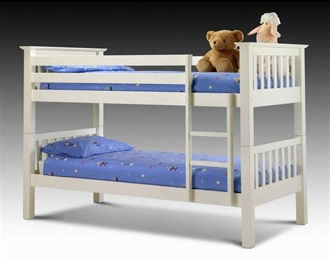 Julian Bowen Barcelona Bunk Bed Julian Bowen Barcelona White Bunk Bed Morale Home Furnishings