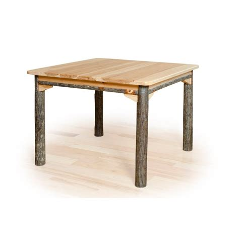 hickory dining room table rustic hickory and oak