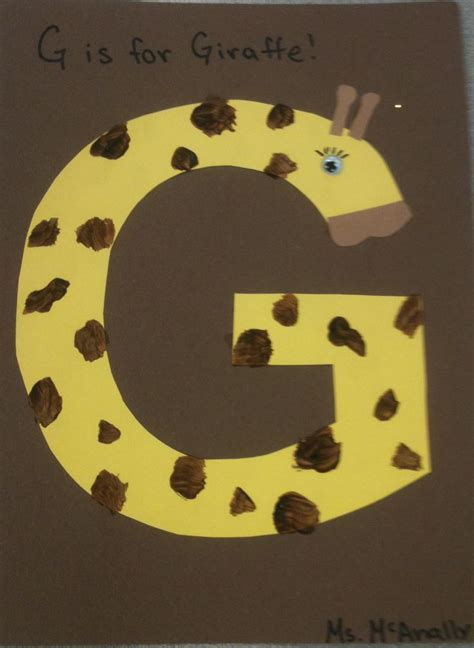 free crafts letter g crafts preschool and kindergarten