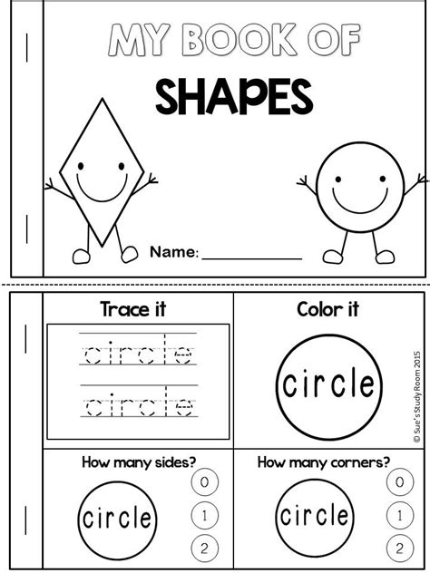 printable shape book templates shapes my word book of 2d shapes books math and