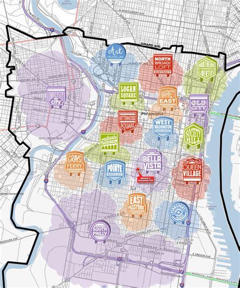 philadelphia neighborhood map pin by connors on philadelphia maps