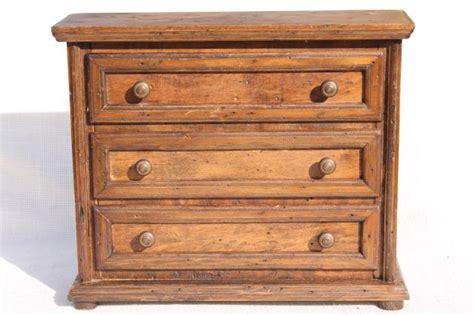 mini dresser jewelry box country primitive pine wood jewelry box small chest of
