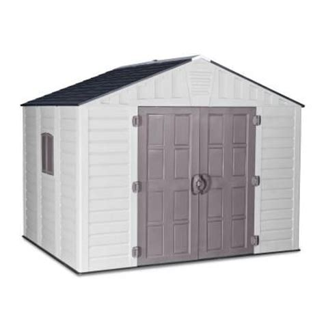 us leisure stronghold 10 ft x 8 ft resin storage shed