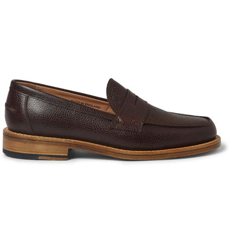 mcnairy loafers mcnairy new amsterdam pebble grain leather