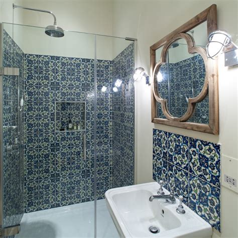 21  Blue Tile Bathroom Designs, Decorating Ideas   Design