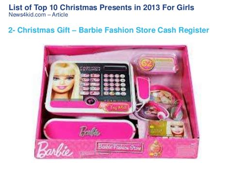 list of top 10 christmas presents in 2013 for girls