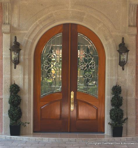 Arched French Doors Exterior Home Design Arch Glass Door