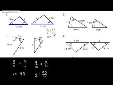 geometry tutorial questions gcse maths similar triangles full tutorial similarity