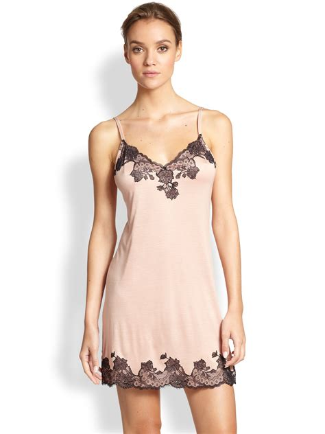 Wash In Hair Color For Men - josie natori charlize lace embroidered chemise in pink blush lyst