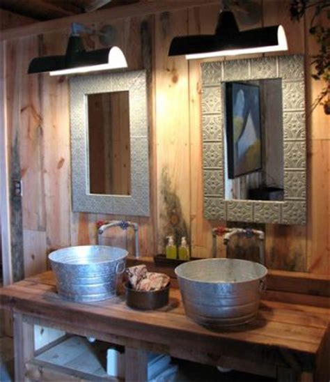 rustic faucets bathroom cabin interiors pool houses buckets and cabin