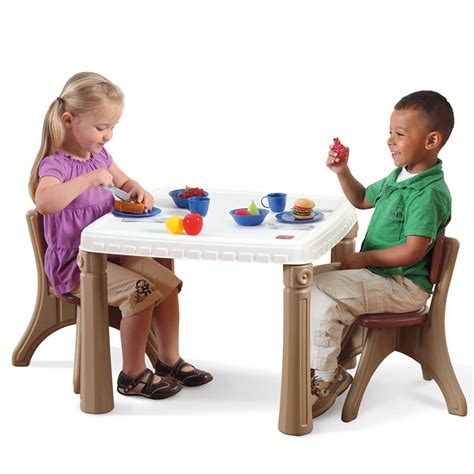 Toddler Kitchen Table Lifestyle Kitchen Table Chairs Set Furniture Step2