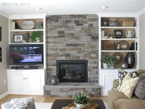 how to decorate bookcases built ins transforming a fireplace and built in bookcases driven
