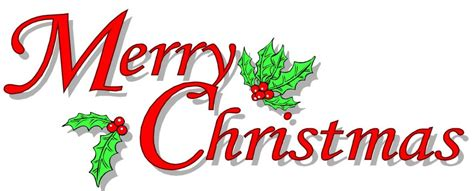 Cool Merry Christmas Clipart Free Clip Art Christmas Words