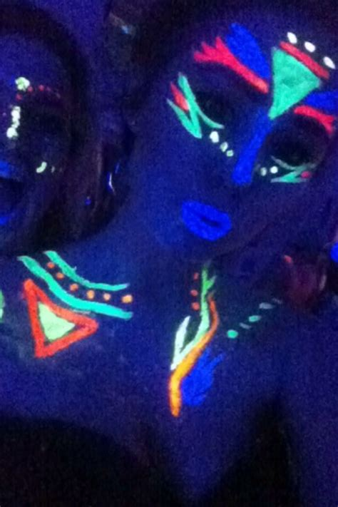 glow in the paint makeup 25 best ideas about glow paint on neon