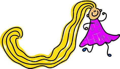 long hairstyles cartoon happy cartoon really long hair girl toddler art prawny