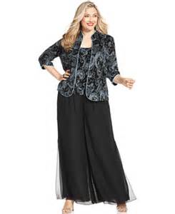 alex evenings plus size evening set amp wide leg chiffon