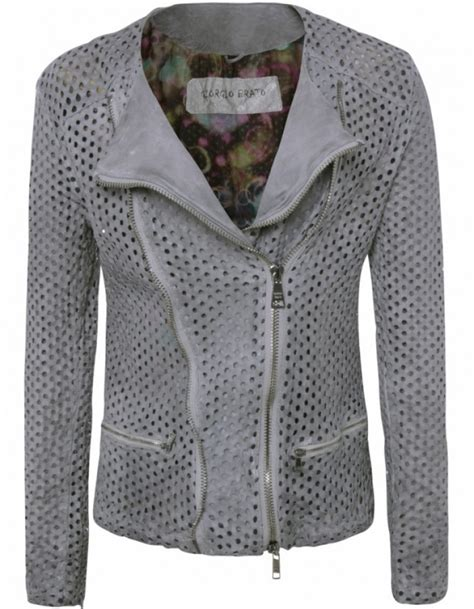 perforated leather motorcycle jacket giorgio brato leather perforated biker jacket jules b