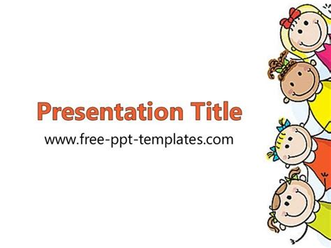 Cute Powerpoint Background For Kids Parksandrecgifs Com Kid Powerpoint Templates