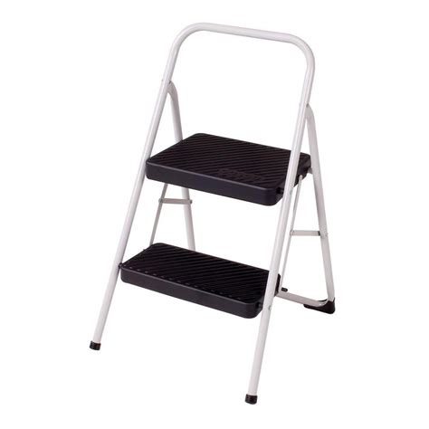 Home Depot Step Stool by Cosco Signature 3 Step Aluminum Step Stool Ladder With Plastic Steps 11411abl1e The Home Depot