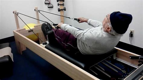 ruth is 100 years old and does pilates to keep fit i love 98 year old man doing pilates in my place youtube