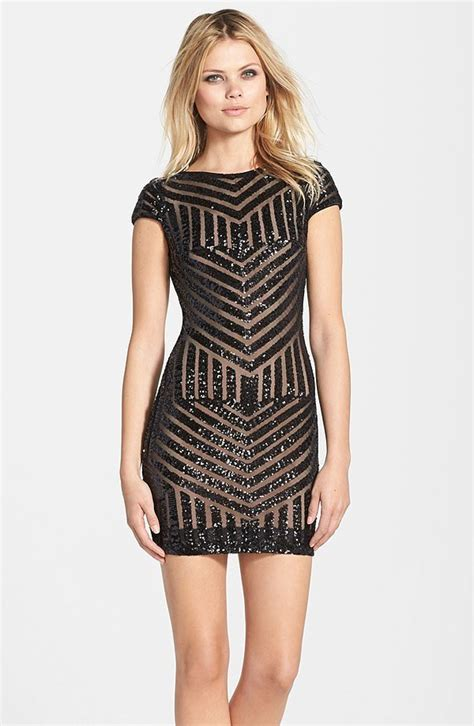 Tabita Daily Dress dress the population geometric sequin minidress