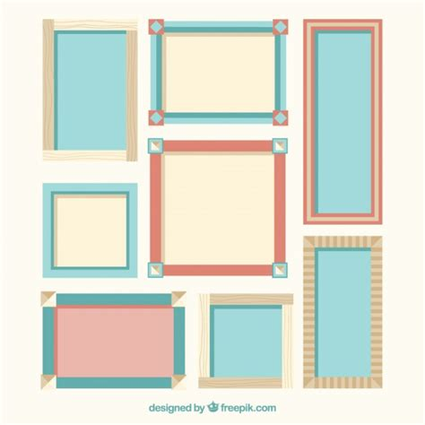 design photo frame editor collection of decorative frame in flat design vector