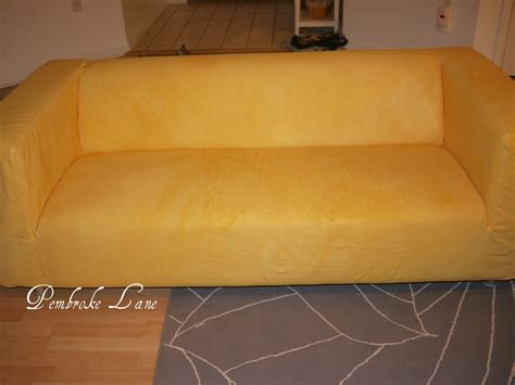 yellow sofa cover pembroke pink and yellow ikea klippan dyed