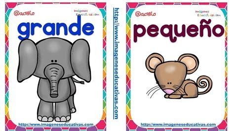 imagenes educativas opuestos opuetos tarjetas 7 act luisa pinterest