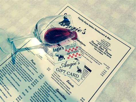 Restaurant Gift Cards Nyc - gift card augie s family style italian restaurant
