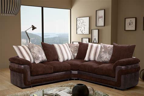 fabric and leather corner sofa new luxury destiny jumbo cord fabric leather corner sofa