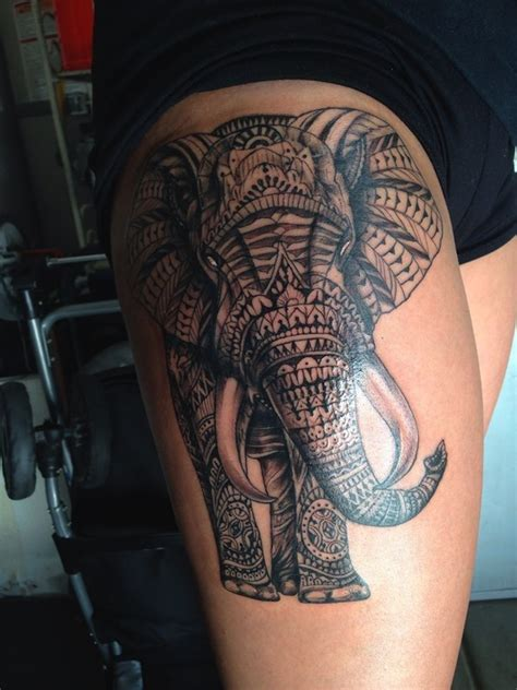 16 awesome tribal thigh tattoos only tribal