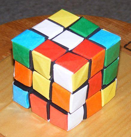 origami rubix cube origami rubik s cube card