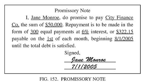 Promissory Note Barrons Dictionary Allbusiness Com Promise To Pay Note Template