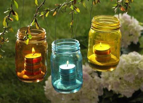 Große Glas Kerzen Laternen by Wundersch 246 Ne Bunte Gartendeko Archzine Net
