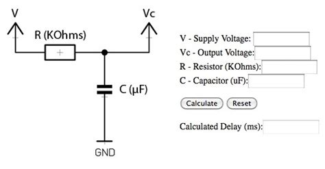 capacitor delay calculator capacitor time delay calculator 28 images time constant calculations dc electric circuits