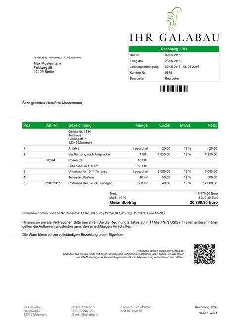 Kleinunternehmer Rechnung Garantie Gartenbau Und Landschaftspflege Software L 246 Sung Rechnungen Angebote Objekte Tour Ebay