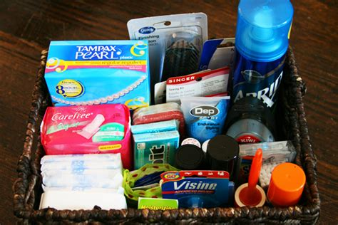 the ultimate emergency kit bathroom basket weddingbee