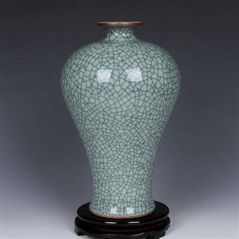 Vas Bunga Keramik Antik 3005 jingdezhen keramik antik vas bunga vas crackle glaze ornamen sederhana mode kerajinan home