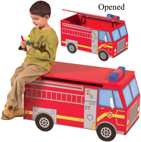 fire truck toy box and storage bench fire truck toy box and storage bench ups 174 free shipping 149 87 kids products i