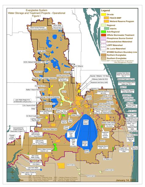 south florida water management district map water storage and treatment projects in northern sfwmd