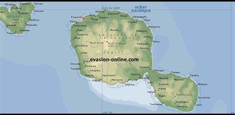 carte de tahiti vacances arts guides voyages