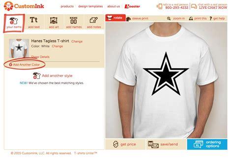 design lab custom ink can i order the same design on multiple shirt colors