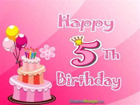 Happy Fifth Birthday Wishes 5th Birthday Wishes And Messages Occasions Messages