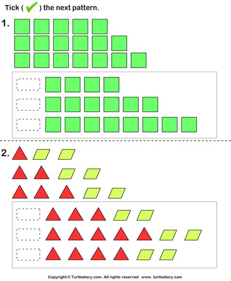 growing pattern in math growing pattern turtlediary com