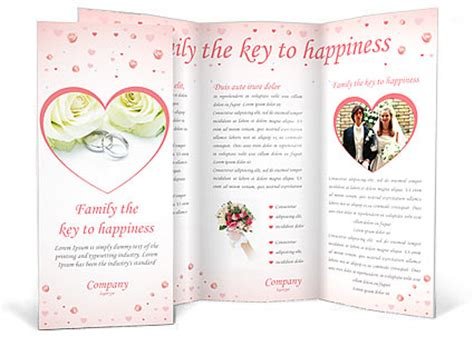wedding brochures templates free wedding rings brochure template design id 0000000283