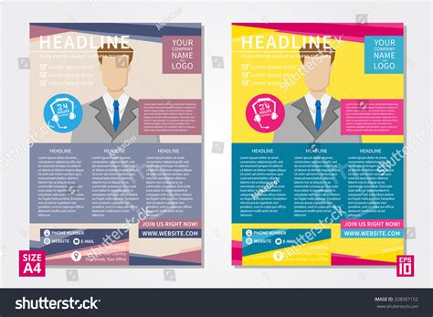 poster text template vector flyer poster leaflet annual report design