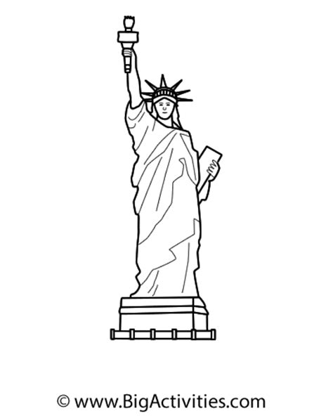 statue of liberty drawing template statue of liberty simple drawing sketch coloring page