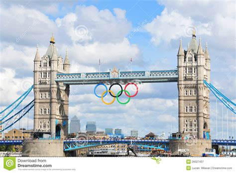 london 2012 olympic games bunting along the river thames tower bridge london 2012 summer olympics editorial image
