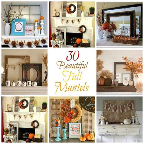 30 diy fall mantels creations by kara